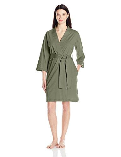 Green Robe (Amazon Essentials Women's 100% Cotton Robe, Olive Green, Large)