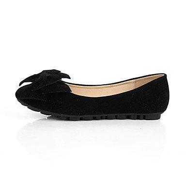 Cómodo y elegante soporte de zapatos de mujer Flats punta redonda/cerrado en los dedos/Flats Casual Flat Heel bowknotblack/azul/amarillo/rosa/ amarillo
