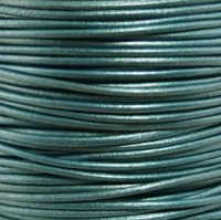 - #58 Metallic Truly Teal Round Leather Cord 1.5mm (1/64