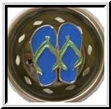 Blue Flipflops Enamel Novelty Kitchen Sink Strainer