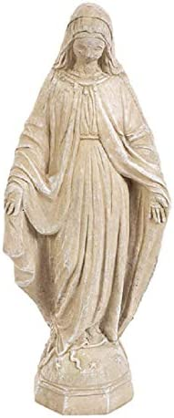 Solid Rock Stoneworks 26in Virgin Mary Stone Statue Desert Sand Color
