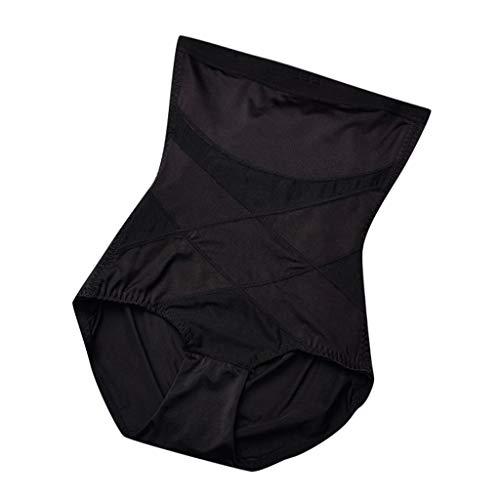 (Caopixx Women's Firm Control Open Bust Slip Shapewear High Waist Panties Seamless Briefs for Womens Black)
