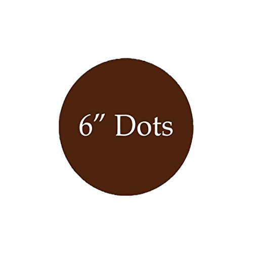 Brown Polka Dot Peel - VWAQ Polka Dots Circles Pack of (12) Peel & Stick Decal Dots Colors Choice Kids (Brown)