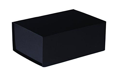 Jillson Roberts 36-Count Medium Magnetic Closure Gift Boxes Available in 5 Colors, Black Gloss by Jillson Roberts