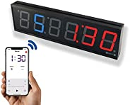 """GymNext Flex Timer - Home Edition - Bluetooth App-Controlled LED Interval Timer with Medium 2.3"""" Digits for Cr"""