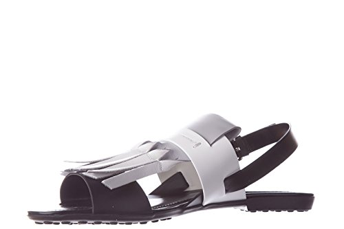 Tod's sandalias mujer en piel nuevo origami negro