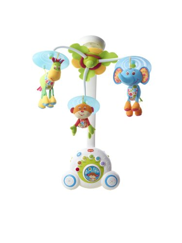 Blue  Baby Mobile With 18 Different Tunes   Music Shuffle Button