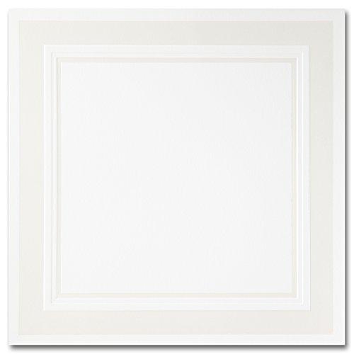 (Fine Impressions Pearl Embossed Border Hi-White Ultra Flat Invitation, 7