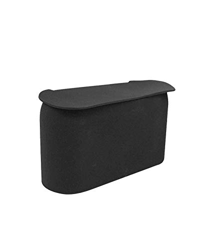 JAVOedge Black Small Car Trash Can with Lid, Flexible Material, Fits in Most Side Doors