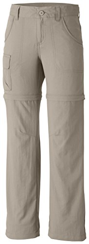 Silver Kids Shorts (Columbia Girl's Silver Ridge III Convertible Pant (Youth), Fossil, Small)
