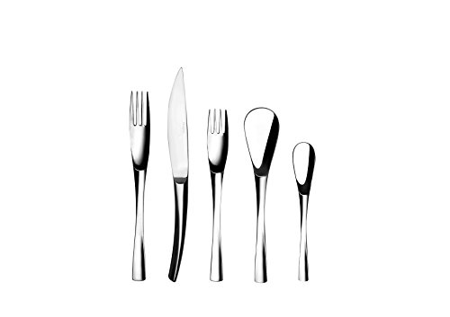 DEGRENNE - XY Mirror Flatware 5 Pieces Set, Stainless -