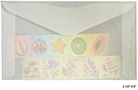 "50 Glassine Envelopes 2/"" x 3.25/"" Confetti Ephemera Stamps Invitations"