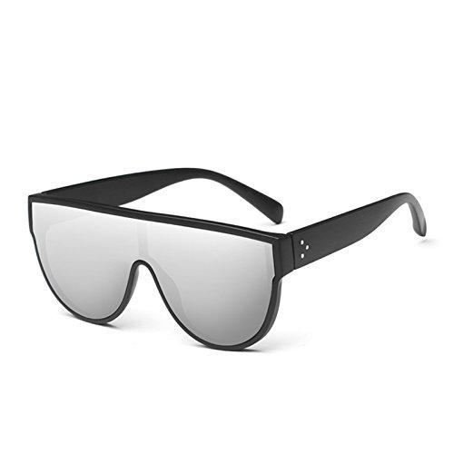 Rojo C3 Uv400 Espejo Gafas De Square Sol Enormes Silver Gafas Mirror C4 Rosa De Mujer Negro TIANLIANG04 Sombras Sol Unas 8TS4q
