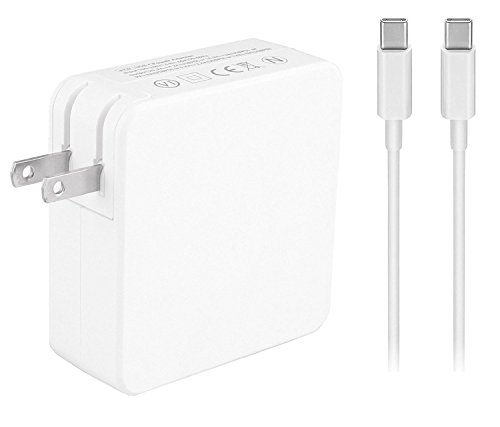 KUPPET 87W Macbook USB-C Power Adapter Charger,Replacement Charger Adapter for Apple Macbook 15 inch with USB-C to USB-C Charge Cable.