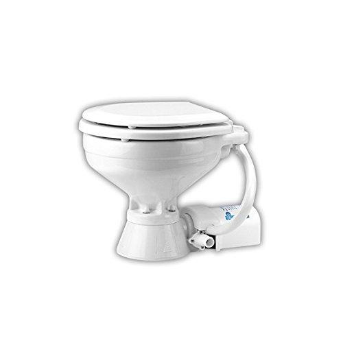 Jabsco 37010-1090 Electric Marine Toilet, Push Button Operation, Macerator, Household Size, 12 Volt