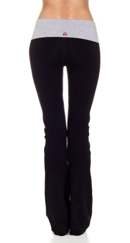 CordiU T-Party Contrast Band Fold Over Yoga Pants
