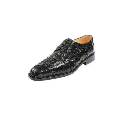 Belvedere Susa Genuine Crocodile Oxford Shoe 8 Black ()