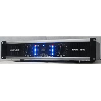 2 Channel 4500 Watts Professional DJ PA Power Amplifier 2U Rack mount SYS-4500 MUSYSIC