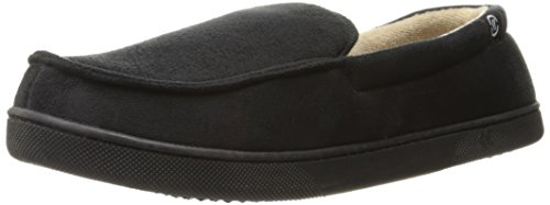 ISOTONER Men's Microsuede Moccasin Slipper with with Cooling Memory Foam for Indoor/Outdoor Comfort