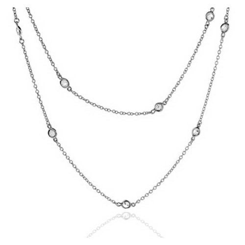 Bling Jewelry Sterling Silver CZ By The Inch - Florence Jewelry
