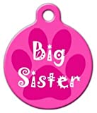 Big Sister – Custom Pet ID Tag for Dogs and Cats – Dog Tag Art – LARGE SIZE, My Pet Supplies