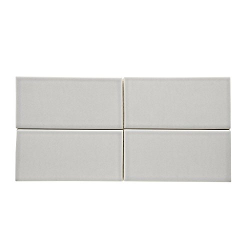 Waterworks Architectonics Field Tile 3 x 6 in Gray Glossy by Water Works