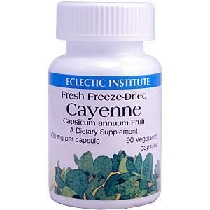 Cayenne 90 Caps - Cayenne, 400 mg, 90 Veggie Caps by Eclectic Institute