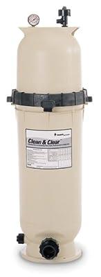 Pentair 160316 Clean & Clear Fiberglass Reinforced Polypropylene Tank Cartridge Pool Filter