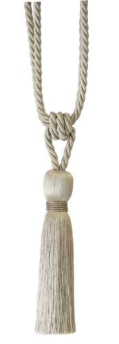 Milly Designer Tie Back / Crystal Tassel For Curtain Fabric (Putty) by Milly
