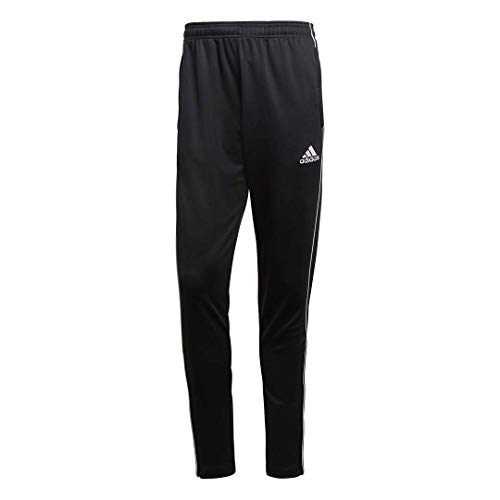 adidas Men's Soccer Core 18 Training Pants, Black/White, Small