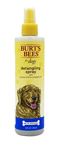Burts Bees for Dogs All-Natural Detangling Spray with Lemon and Linseed | Best Detangling Spray for All Dogs and Puppies with Matted Fur, 10 Ounces