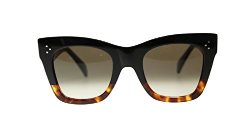 Celine Women's Sunglasses CL41090 FU5 Black Havana Tortoise Cat Eye 50mm Authentic