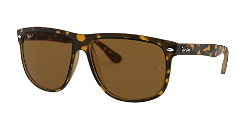 Ray-Ban Men's 4147 60mm Polarized Light Havana/Crystal Brown Polarized none -
