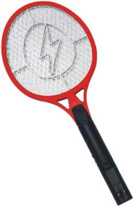 King Shine Rechargeable Electric Mosquito Racket Bug Zapper Fly Swatter and Insect Killer Bat  Multicolour