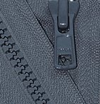 "Zipperstop Wholesale YKK® 24"" Vislon Zipper ~ YKK #5 Molded Plastic Sport Zipper ~ Separating - 579 Dark Grey (1 Zipper/ Pack)"