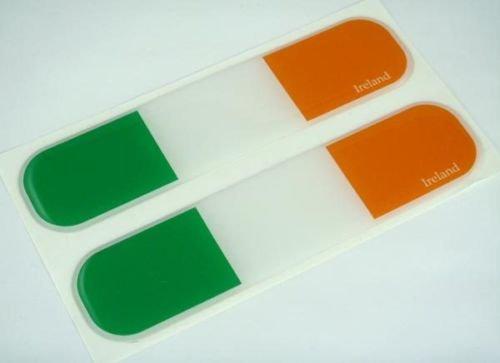 Ireland, Irish Flag Domed Decal Emblem Car Flexible Sticker 5