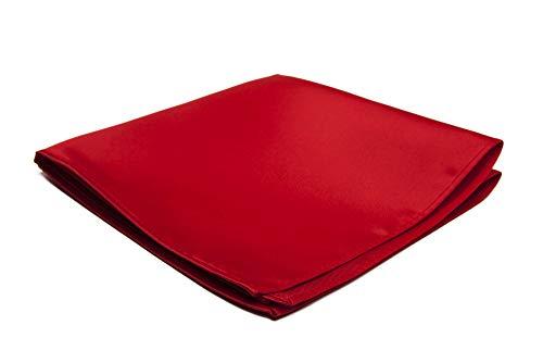Jacob Alexander Men's Pocket Square Solid Color Handkerchief - Red -