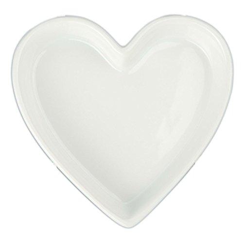 - Bia Cordon Bleu 900069 Heart Shaped Porcelain Quiche, 6 oz, Porcelain