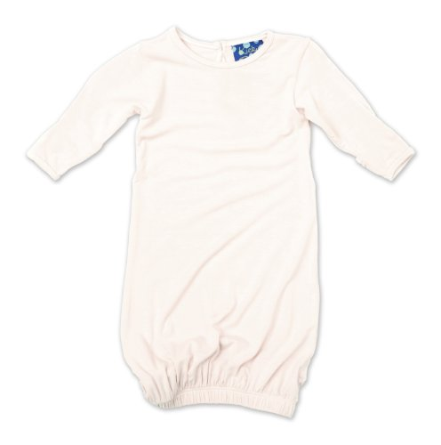 KicKee Unisex Baby Gown, Natural, Newborn by Kickee Pants
