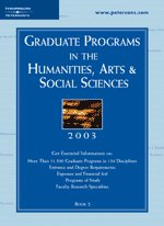 Grad Guides Book 2:Hum/Arts/Soc Sci 2003 (Peterson's Programs in the Humanities, Arts & Social Sciences, 2003)