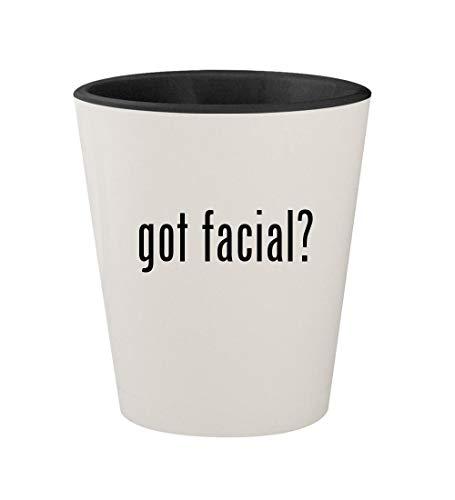 got facial? - Ceramic White Outer & Black Inner 1.5oz Shot Glass