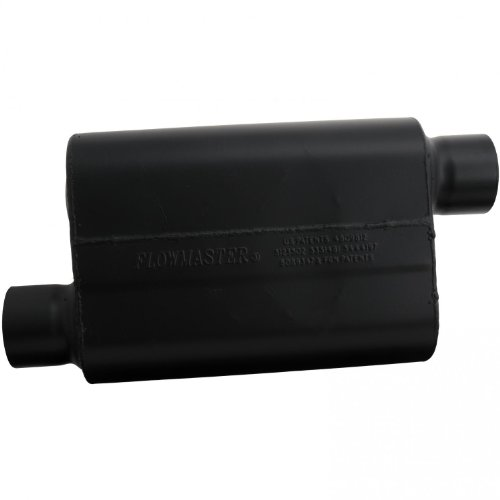 Flowmaster Super 44 Delta Flow Muffler (Flowmaster 943048 Super 44 Muffler - 3.00 Offset IN / 3.00 Offset OUT - Aggressive Sound)
