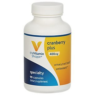 The Vitamin Shoppe Cranberry Plus 400MG, Natural Antioxidant Supplement That Supports Urinary Tract Health (90 ()
