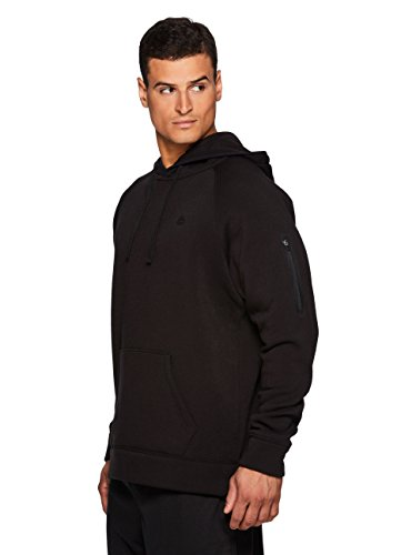 RBX Active Men's Fleece Workout Athletic Pullover Hoodie Black L