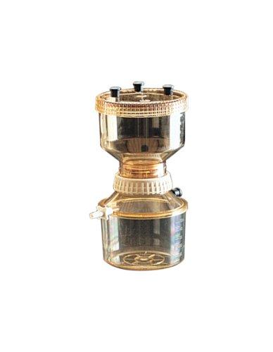Nalgene Filter Holder with Receiver, PSF 47 mm, 230mm H x 134mm OD, 500 ml Capacity (Case of 4) by Nalgene