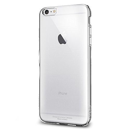 Spigen Schutzhülle iPhone 6 PLUS / 6S PLUS Hülle: LIQUID ARMOR - Soft Flex Premium, Tasche transparent [Crystal Clear - COVER SGP10886]