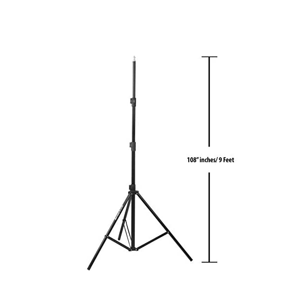 RetinaPix Sonia LS-250 9 Feet Umbrella Flash Portable Foldable Combo Light Stand for Photography Set of 2 with Carry Bag Case for tiktok Video Photo Studio Shooting (Black)