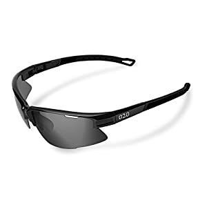 O2O [Polarized Sports Sunglasses [Tr90] Frame [One of the Lightest Sports Sunglasses] Only 0.044 Lb for Running Golf Driving BaseballCyclingFishing Men Women Teens Youth (Black, Black)