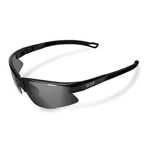 O2O [Polarized] Sports Sunglasses [Tr90] Frame [One of the Lightest Sports Sunglasses] Only 0.044 Lb for Running Golf Driving Baseball Cycling Fishing Men Women Teens Youth (Black, - Designing Sunglasses