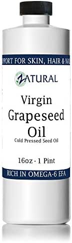 GrapeSeed Oil-Cold Pressed, Virgin, Undiluted, 100% Pure Grape Seed Oil (16 Ounce)